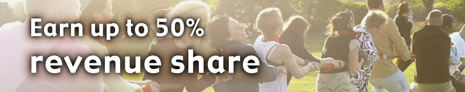 Earn up to 50% revenue share