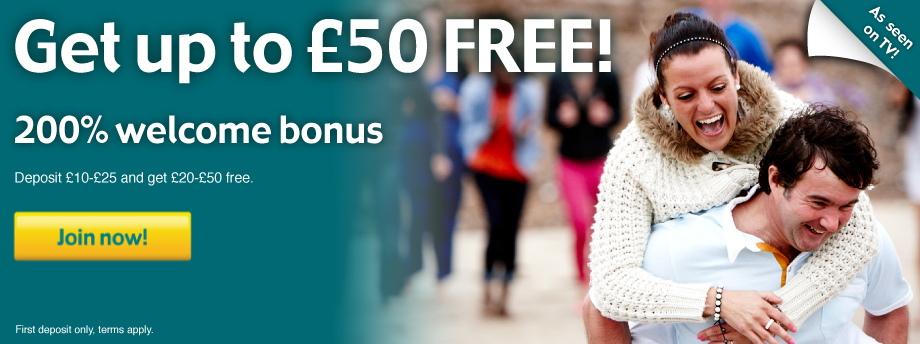 Get up to £20 FREE! 200% welcome bonus